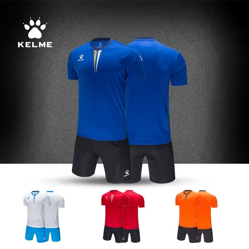 Kelme 2019 New Soccer Jersey Set Customized Mens Children's Same Style Uniform Training Suits Jersey 3891047