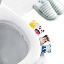 Ванная комната сиденье для унитаза крышка подъемник ручка стикер Самоклеющиеся милый мультфильм дизайн
