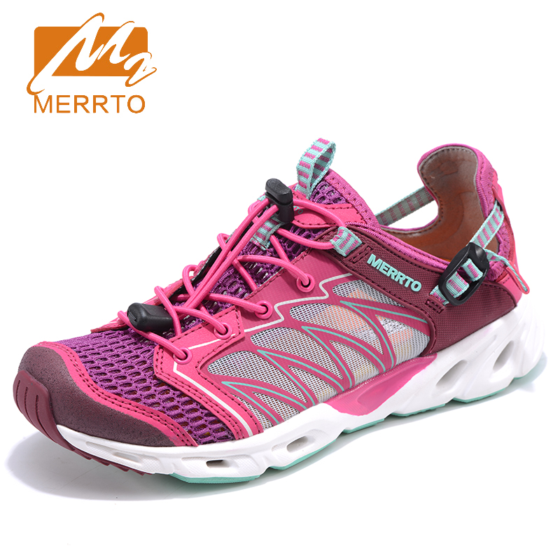 2017 Merrto Women Aqua Shoes Summer Beach Shoes  Outdoor Water Shoes Light Weight Sandals For Female Free Shipping MT18677 2017 clorts womens water shoes summer outdoor beach shoes quick dry breathable aqua shoes for female green free shipping wt 24a