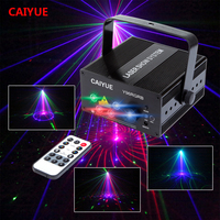 DJ Laser stage light Full Color 96 RGB Patterns Projector 3W Blue LED Stage Effect Lighting for Disco light Xmas Party