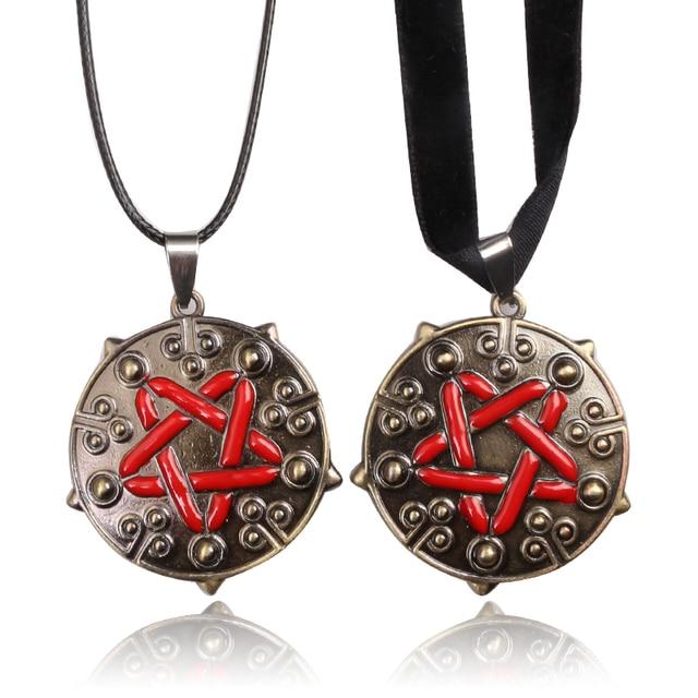 Witcher 3 yennefer medallion pendant necklace black choker gothic witcher 3 yennefer medallion pendant necklace black choker gothic necklaces pendants wild hunt game jewelry aloadofball Choice Image