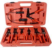 цена на 9pcs/set Hose Clamp Clip Plier Set Swivel Jaw Flat Angled Band Automotive Removal Tool Clamp Buckle herramientas para el auto