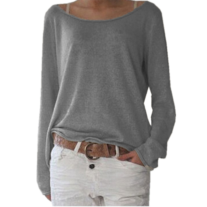 HTB1y2bCPpXXXXbXXFXXq6xXFXXXH - New Spring Casual O Neck Long Sleeve Cotton Women T-Shirts