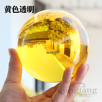 yellow crystal K9 artificial crystal Feng Shui lucky ornaments to dribble magic photography ball decoration