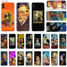 Lavaza Van Gogh Mona Lisa Funny Art Hard Phone Case for Apple iPhone 6 6s 7 8 Plus X 5 5S SE XS Max XR Cover