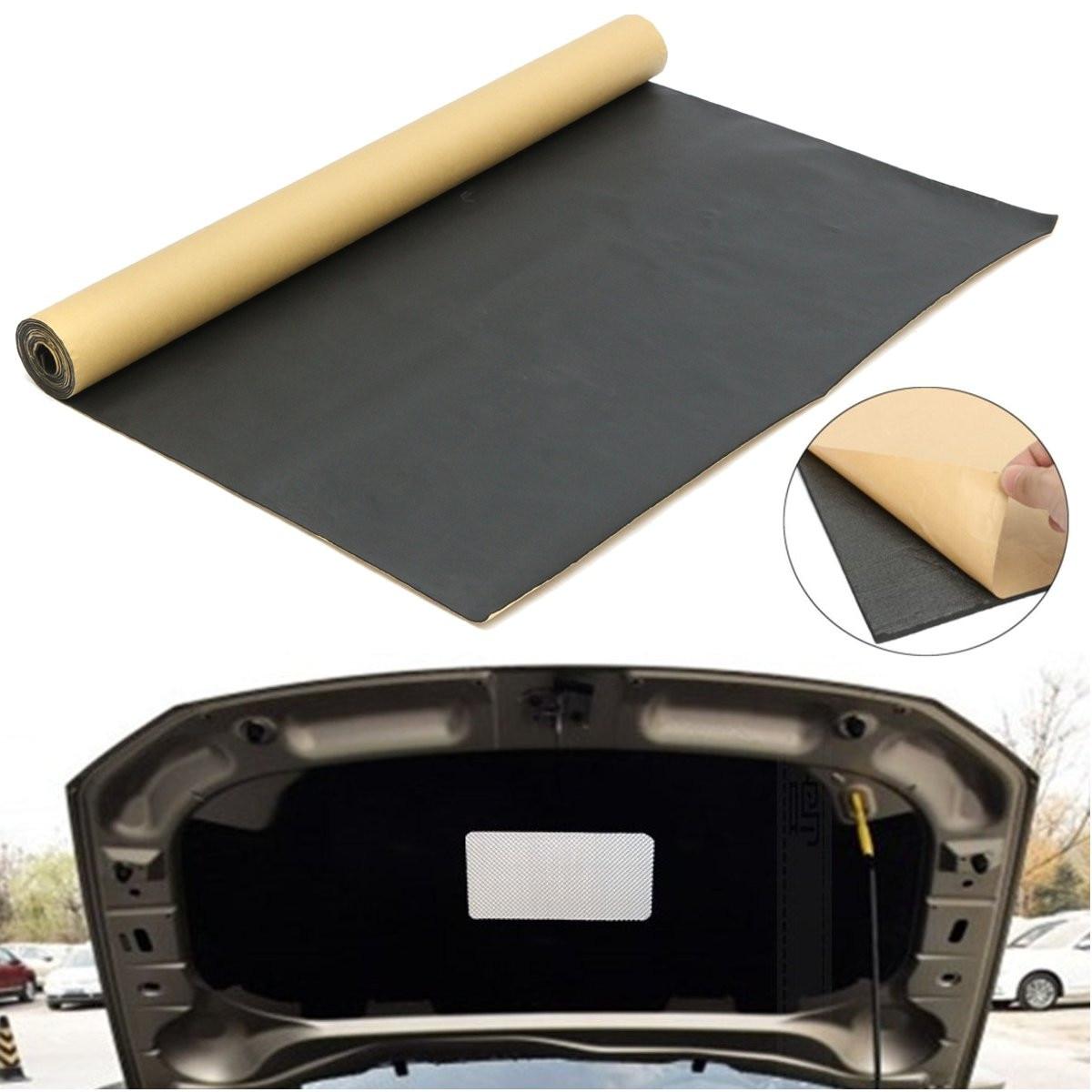 1 롤 300cm x 100cm 범용 자동차 방음 방음 열 절연 폐쇄 셀 폼 자동 홈 음향 패널 자기 접착제-에서사운드&히트 단열 코튼부터 자동차 및 오토바이 의