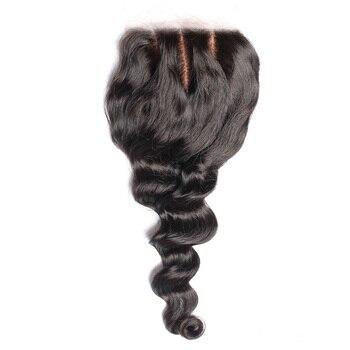 ปิดฐานผ้าไหมบราซิล Hair Loose Wave 4x4 ฟรีส่วน Remy Human Hair Pre Plucked ธรรมชาติด้วยเด็กรุ่น Proda