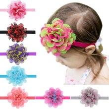 New Cute Colourful Flower Hair Band Beautiful Net Yarn Headband Bezel Headwear Hair Accessories EASOV W225