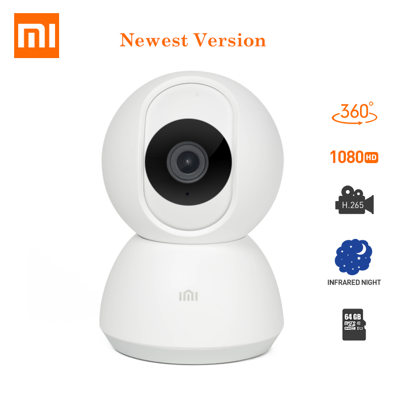 Updated Version Xiaomi Mijia Smart IP Security Camera 1080P HD WiFi Pan tilt Night Vision 360 Degree View Motion Detection Cam