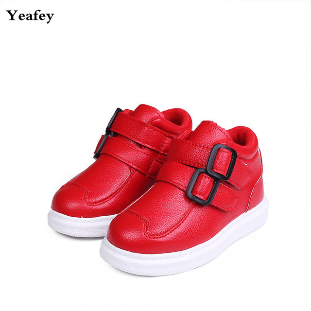 d3bcd99a714cd Yeafey Rubber Girls Boots with Fur Cotton Children Winter Boots Chaussure  Fille Enfant Size 21-36 Red Black Autumn Shoes for Boy