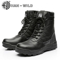 All Season Men Combat Boots Shoes Male Tactics Boots Special Force Desert Shoes Military Tactical Boots