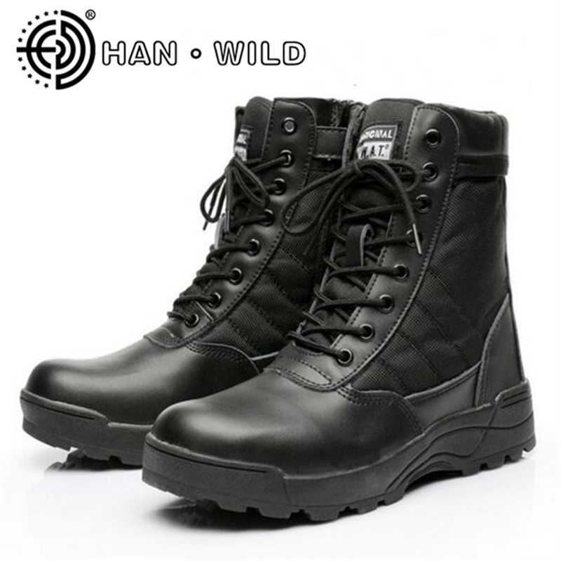 All Season Men Combat Boots Shoes Male Tactics Boots Special Force Desert Shoes Military Tactical Boots Sapatos Masculino