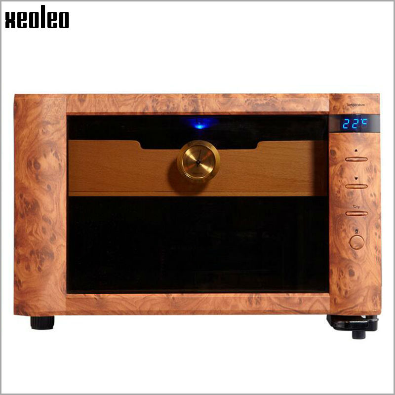 Xeoleo Mini Cigar humidity Wine Cooler 23L Electric Cigar cabinet Thermostatic&Constant humidity Cigar Storage Wine Refrigerator owl cuban cigar e juice