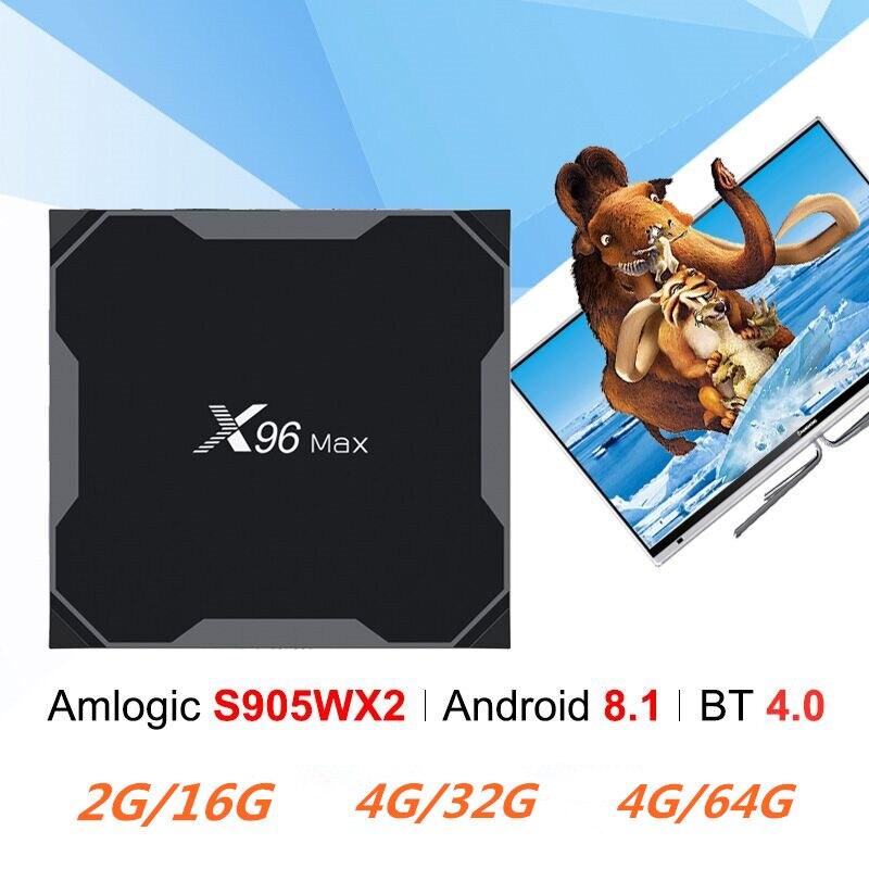 X96 MAX Android 8 1 Amlogic S905X2 2GB 16GB 4GB 32 GB 64GB TV BOX 2