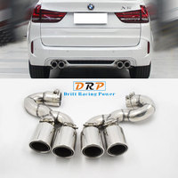 Car styling! The New type of Car Exhaust Pipe with Four Mouths For BMW X5 series 14 17 Muffler Tips Accessories modified F15,X5