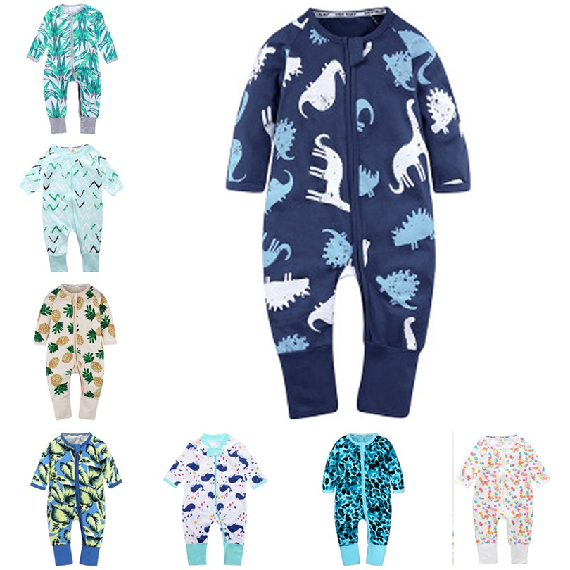 2019 Spring Autumn Long Sleeve Boy Girl Cotton Baby Cartoon   Romper   Kids Onesies Clothing Jumpsuit Newborn Infant pajamas Outfits