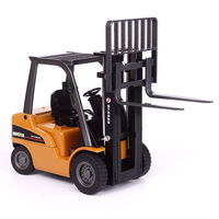 high simulation alloy engineering vehicle model,1:50 alloy Engineering forklift toys,metal castings,toy vehicles,free shipping