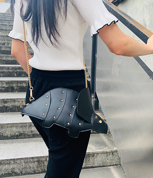 New 3D Unicorn Dinosaur Design Pu Cute Tote Bag Crossbody Mini Bag Clutch Bag Fashion Handbag Shpulder Bag Chain Purse