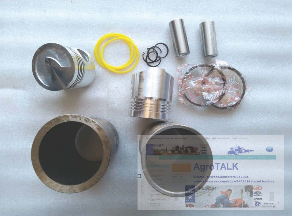 Shandong Taishan tractor parts, the set of piston group for tractor with FD2100T, the swirl type engine цена