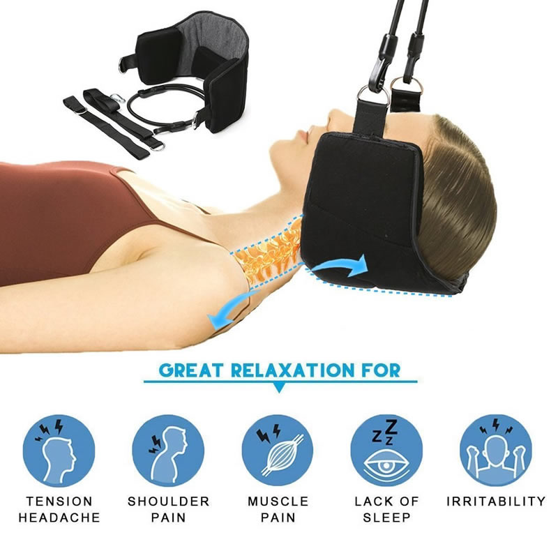 Portable Neck Pain Relief Relaxing Hammock Neck Massager Neck Pillow Massager Cervical Head Hammock Posture Health Care Suitable For Men And Women Of All Ages In All Seasons Massage & Relaxation