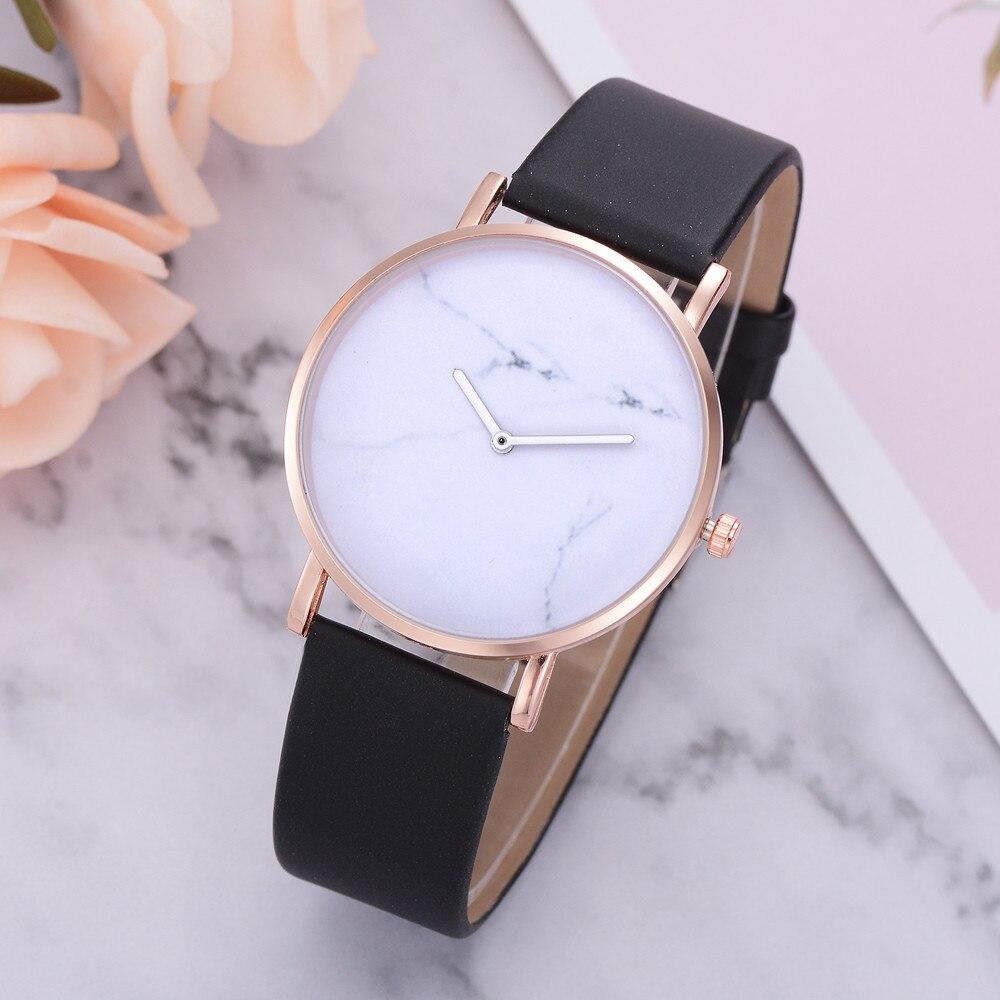 New Fashion Montre Femme Marble Print Leather Dress Quartz Watch Top Brand Women Watches Woman Delicate Clock Bayan Kol Saati *A