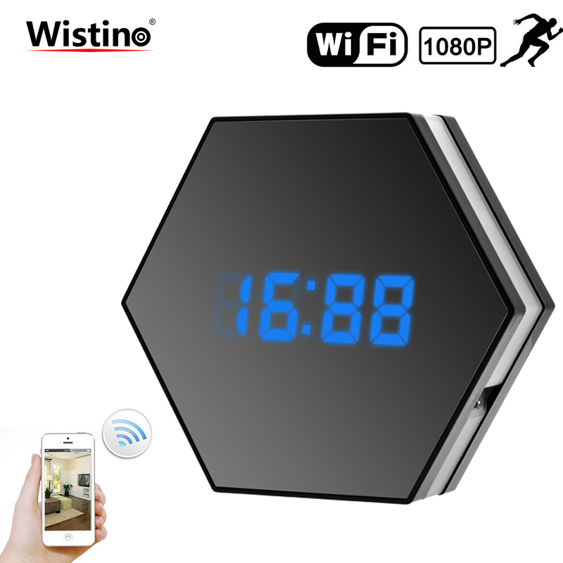WIFI Mini Camera 1080P Time Alarm CCTV Home Security Clock Wireless Nanny IP Camera P2P IR light Night Vision Motion Detection цена