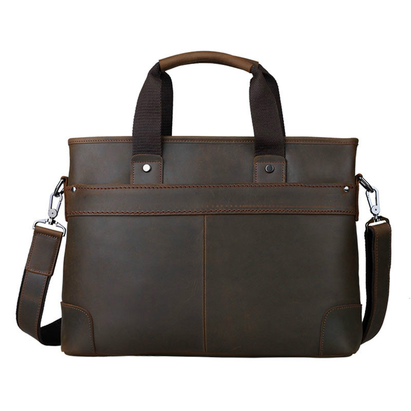 Aolen Genuine Leather Men Bag Vintage Men's Briefcase Shoulder Bussiness Laptop Bag Men Messenger Bags Hot Male Travel Bags 2016