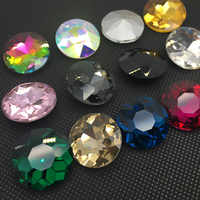 8mm ~ 27mm,Round Point Back Crystal Glass Fancy Baoshihua Stone For Dress Shoes Bags decoration
