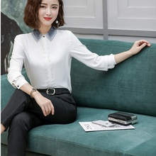 d3a64fffdda Fashion Ladies White Blouses & Shirts Women Business Suits 2 Piece Pant and  Top Sets Work Wear Office Uniform Style