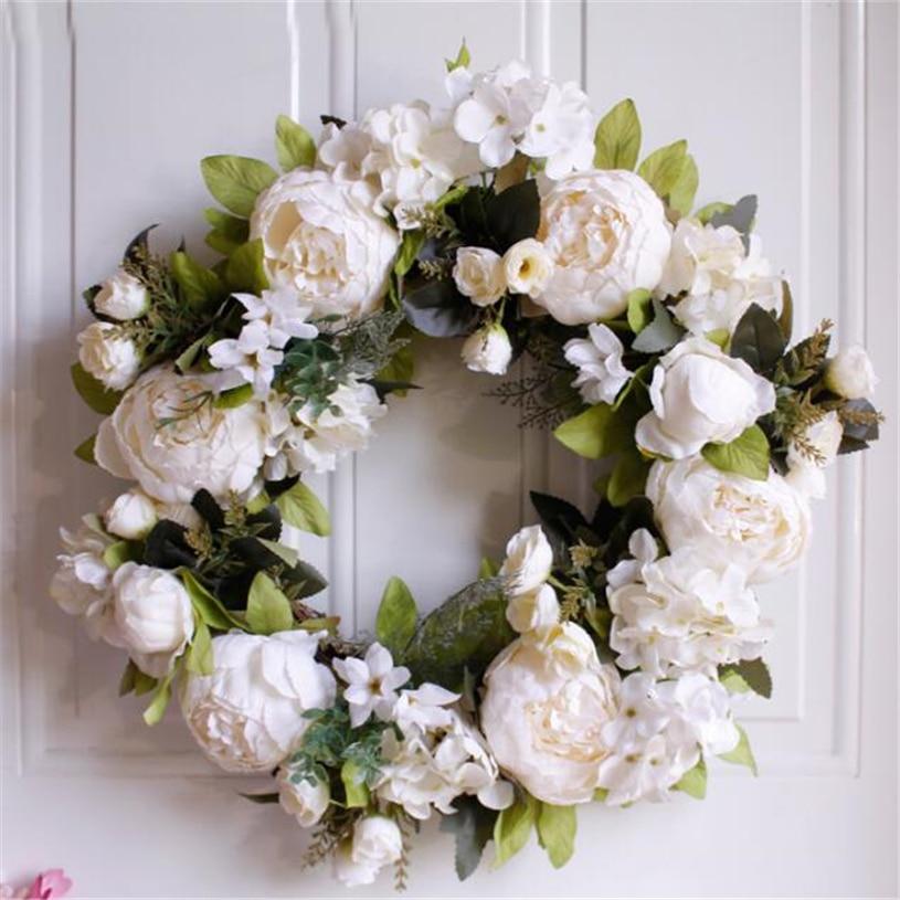 Flower Wreaths For Weddings: Fall Wreath Farmhouse Artificial Flower Wreath Daisy Silk