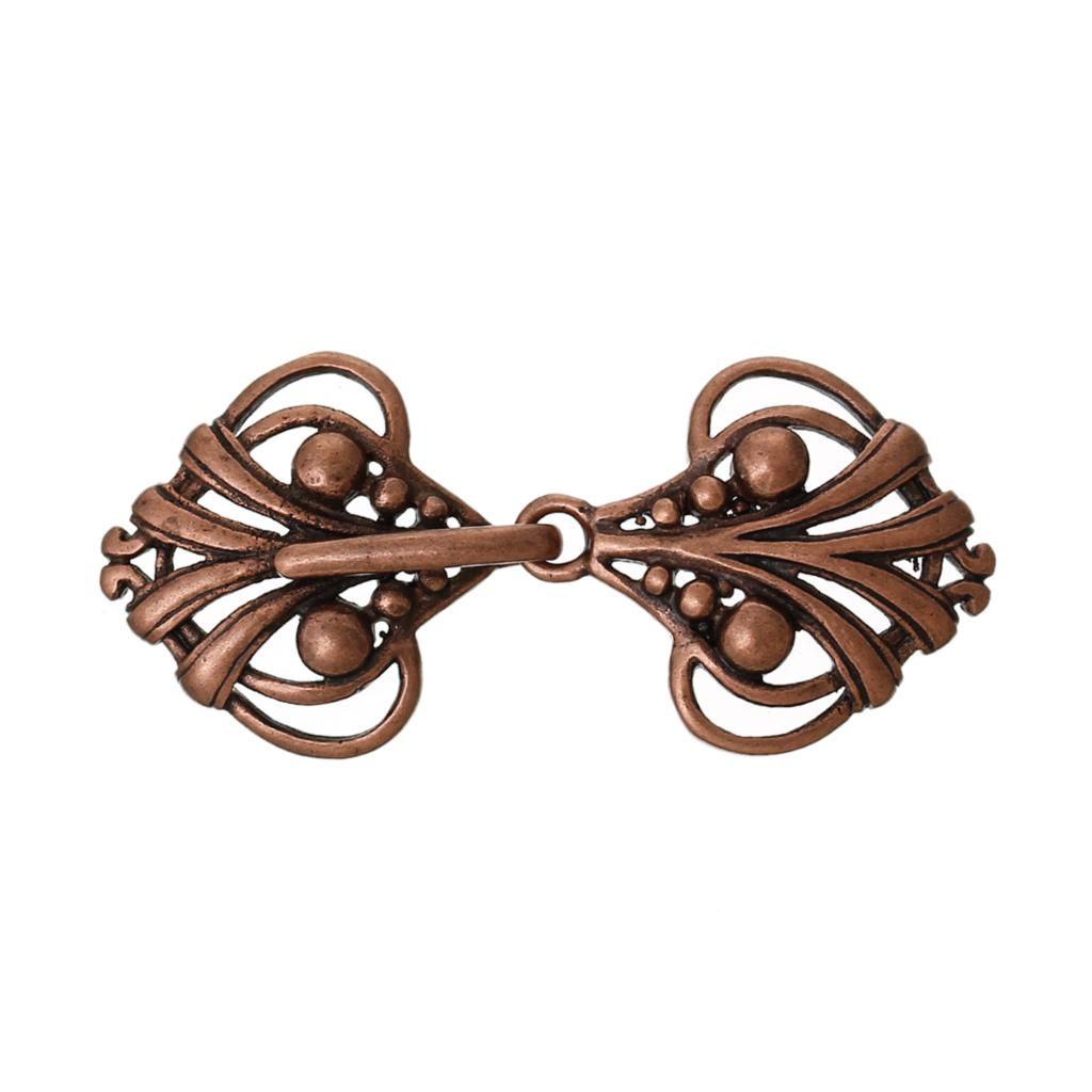 DoreenBeads Copper Toggle Clasps Heart Antique Copper 4.6cm X2.1cm(1 6/8