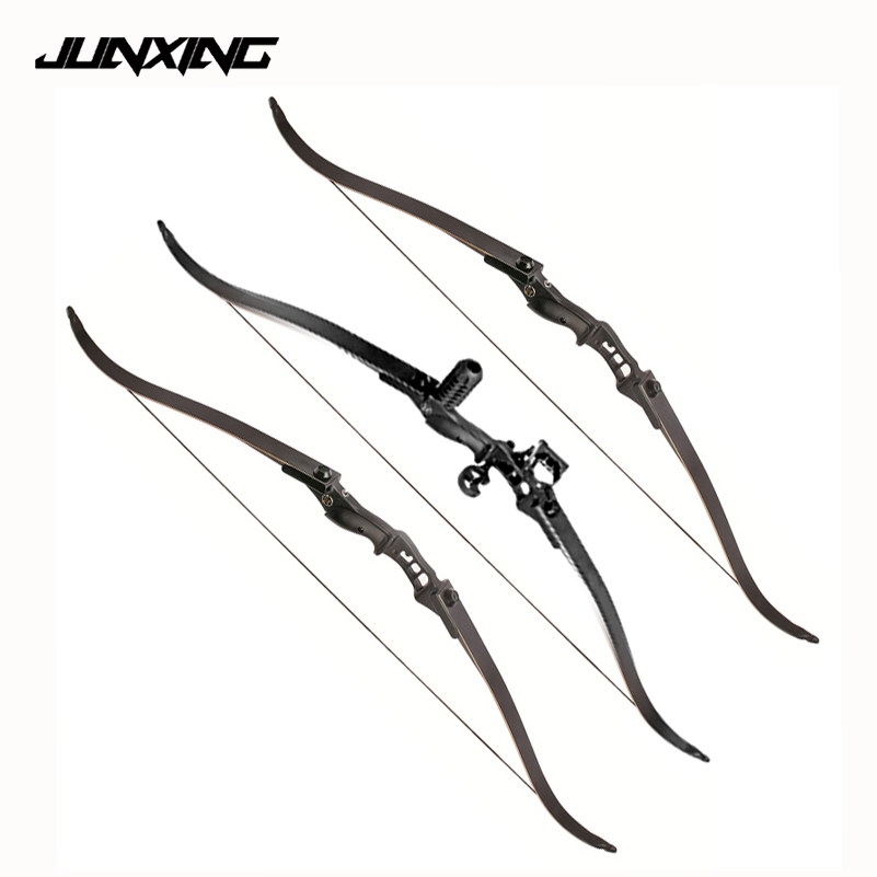 1pc 54 Inches Recurve Bow Length 30-50 Lbs Riser Length 17 inch American Hunting Bow for Archery Sports Hunting Shooting 54 inch recurve bow american hunting bow 30 50 lbs for archery outdoor sport hunting practice