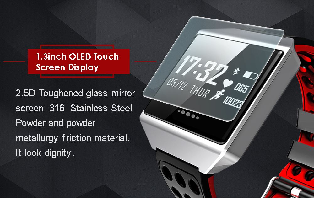 MOCRUX CK12 Smartwatch IP67 Waterproof Wearable Device Bluetooth Pedometer Heart Rate Monitor Smart Watch For AndroidIOS (2)