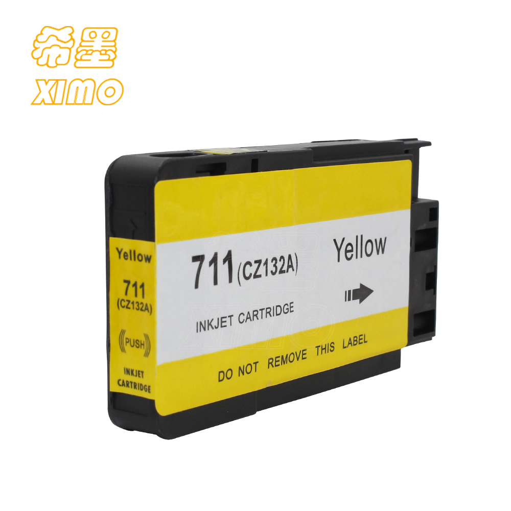 XIMO 1 Pack Compatible Inkjet Cartridge for HP711 YELLOW CZ132A ink suitable for HP DesignJet T120