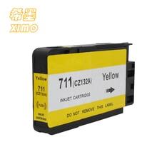 Ximo 1 упак. Совместимый струйный картридж для HP 711 желтый CZ132A чернила подходят для HP Designjet T120 T520