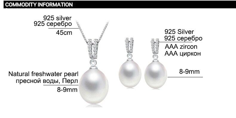 ZHBORUINI 2019 Juego de joyas de perlas Collar de perlas de agua - Joyas - foto 6