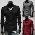Cheap wholesale 2016 new Men's long sleeve shirt leisure cultivate one's morality