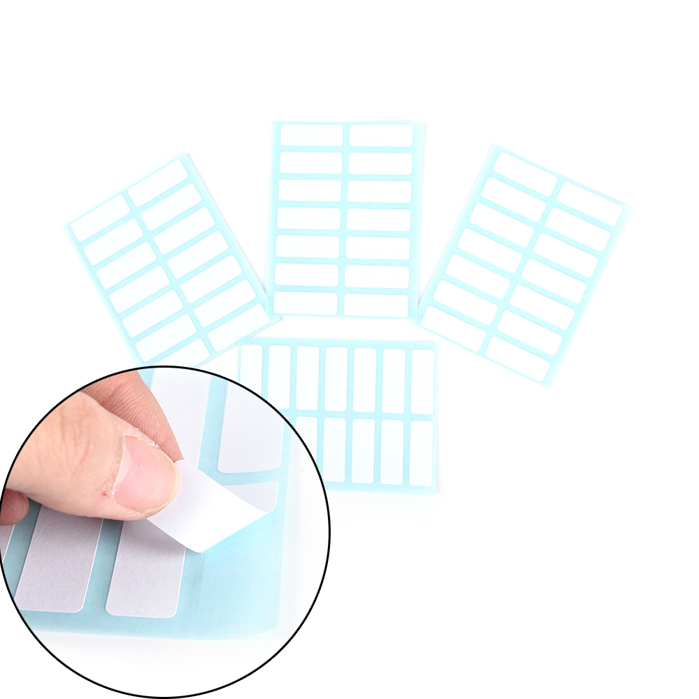 Office & School Supplies Devoted 12 Sheets/pack Self Adhesive Sticky White Label Writable Name Stickers Blank Note Label Bar To Win Warm Praise From Customers