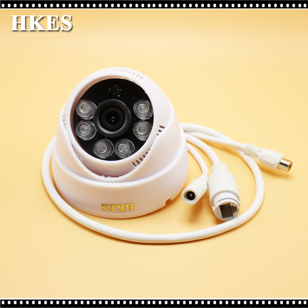 HKES cctv mini ip camera wired surveillance system home security 720P support onvif audio indoor