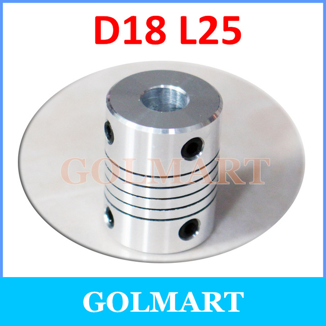 D18*L25 Shaft Coupling flexible 3/4/5/6/6.35/7/8/10 mm CNC Motor Coupler