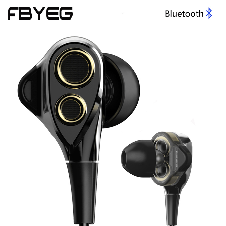 FBYEG DT100 Bluetooth earphone Wireless headphones Bluetooth sport Headset Noise cancelling bass earbuds with Mic For phone mini bluetooth v4 2 noise cancelling earphone double wireless earbuds support tws headphones awei t1 headset earpiece for phone
