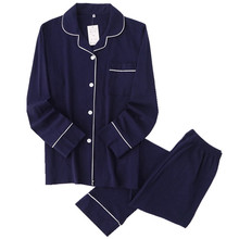 Повседневные однотонные пижамные комплекты для пар из 100% хлопка, мужские осенние пижамы с длинным рукавом, одежда для сна, мужские пижамы, японские пижамы для мужчин