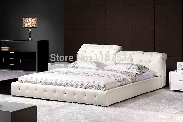 Large king size soft bed PU+PVC leather soft bed C387 smoby детская горка king size цвет красный