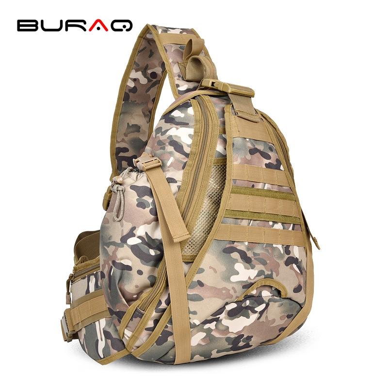 ФОТО BURAQ Molle Sling Chest Bag Assault Pack Messenger Shoulder Bag New arrival Camouflage shoulder bag Messenger bag outdoors