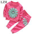 LZH Baby Girls Clothing 2017 Spring Autumn Newborn Infant Clothes T-shirt+Pants 2pcs Outfits Suits Kids Baby Girls Clothes Sets