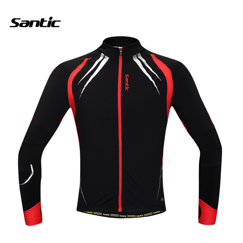 Recommend! Santic Unisex Autumn Jacket Cycling Top Jersey Long Winter Thermal Bike Riding Jersey Bicycle Biking Clothes, 2 Color