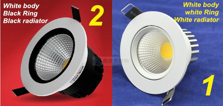 High quality Dimmable led downlights cob 7W 10W 15W dimming LED Spot light led ceiling lamp free shipping