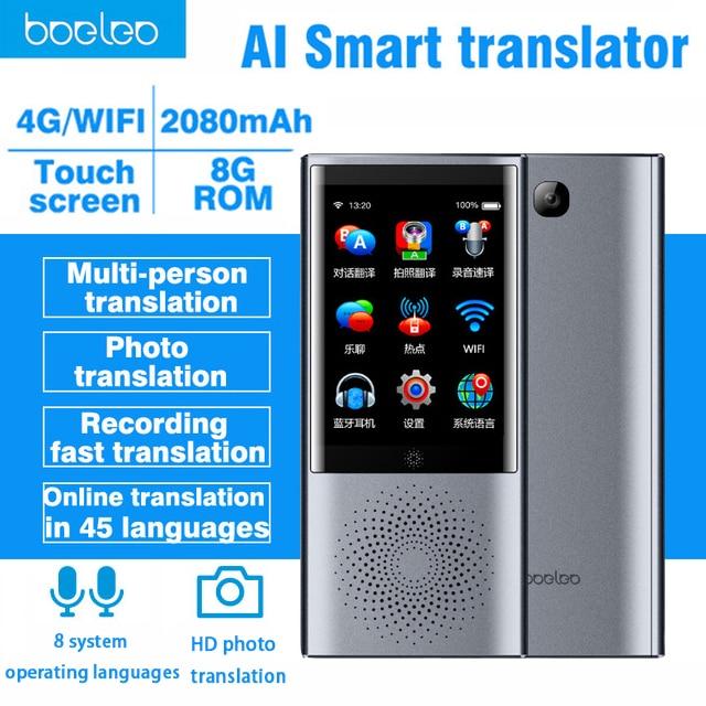 Boeleo W1 AI instant Voice Translator 2 8 Touch Screen 4G WIFI 8GB Memory 45 Multi