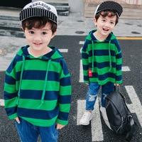 Hoodies Kids 2018 High Quality T Shirt Kids Boys Hoodies Brand Striped Children Long Sleeve Shirt