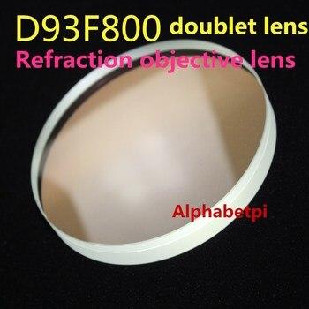 D93mm Diameter F800 Focal Length Refraction objective lens D93F800 doublet lens Multi Coated Astronomical telescope